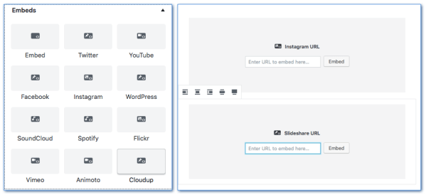 Gutenberg embed widget block
