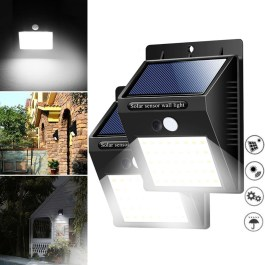40 LED Solar Power Light PIR Motion Sensor Security Outdoor Garden Waterproof Wall Lamp