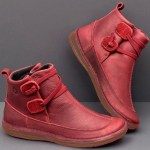 Classic Stitching Solid Color Slip Resistant Ankle Boots