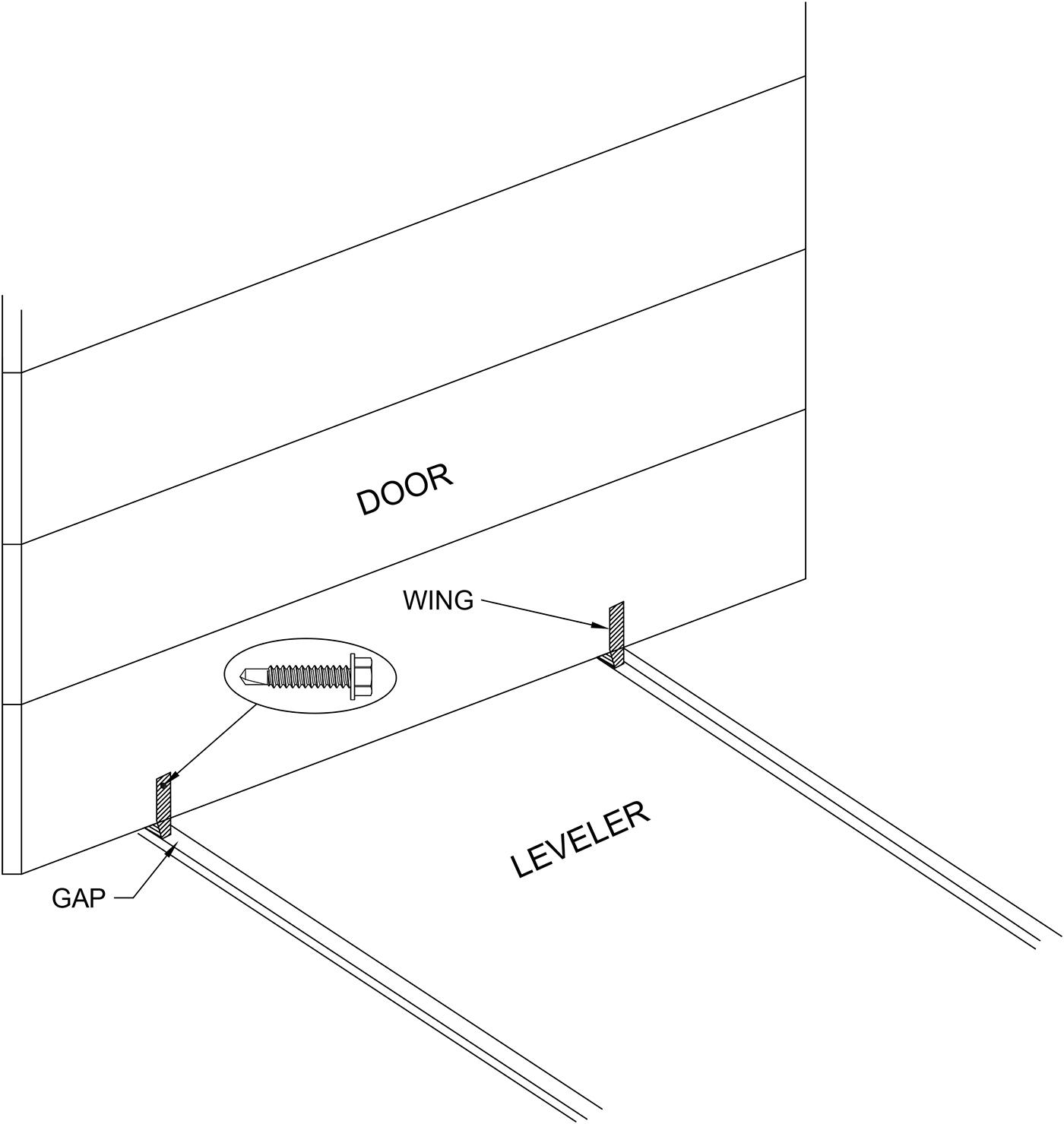 Aftermarket Dock Parts Draft Blocker Under Door Wedge