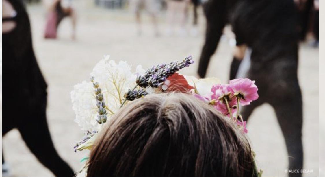 festival Vie sauvage, Âme Bordeaux, Couronne de fleur, fleurs séchées, couronne de fleur personnalisé bordeaux, animation florale