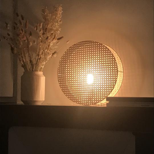 ÂME BORDEAUX_LAMPE MOON 38 BY AN°SO DESIGN
