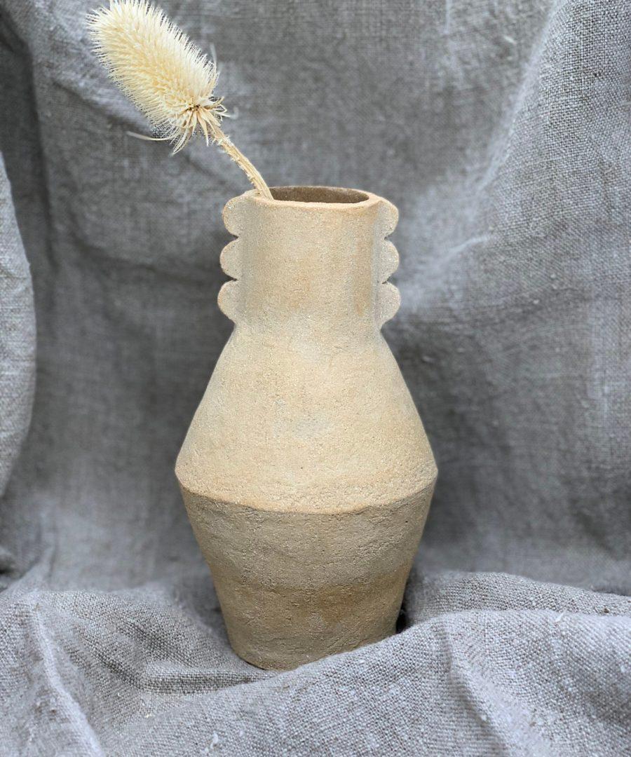 cassandre bouilly vase totem gres roux ame bordeaux