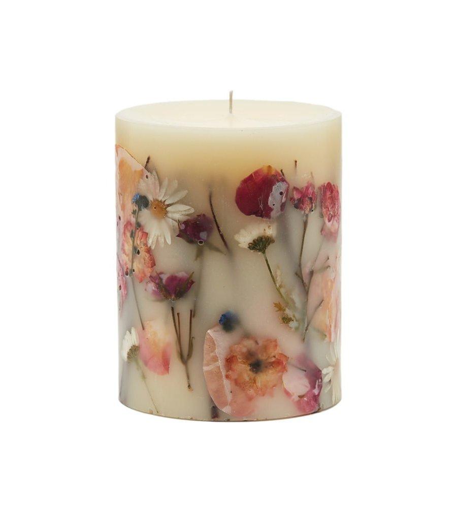 bougies végétale fleurs séchées rosy rings ame bordeaux