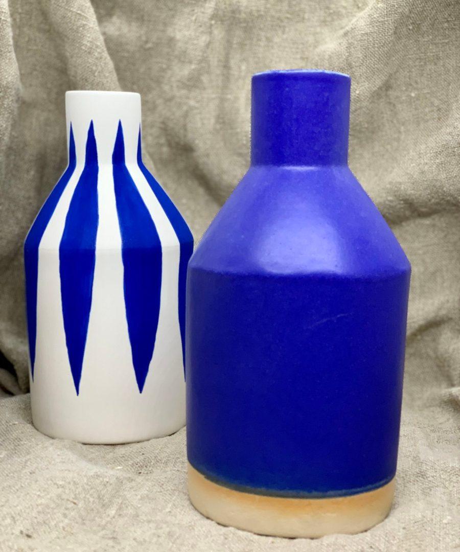 vase bouteille bleu sophie alda ame bordeaux