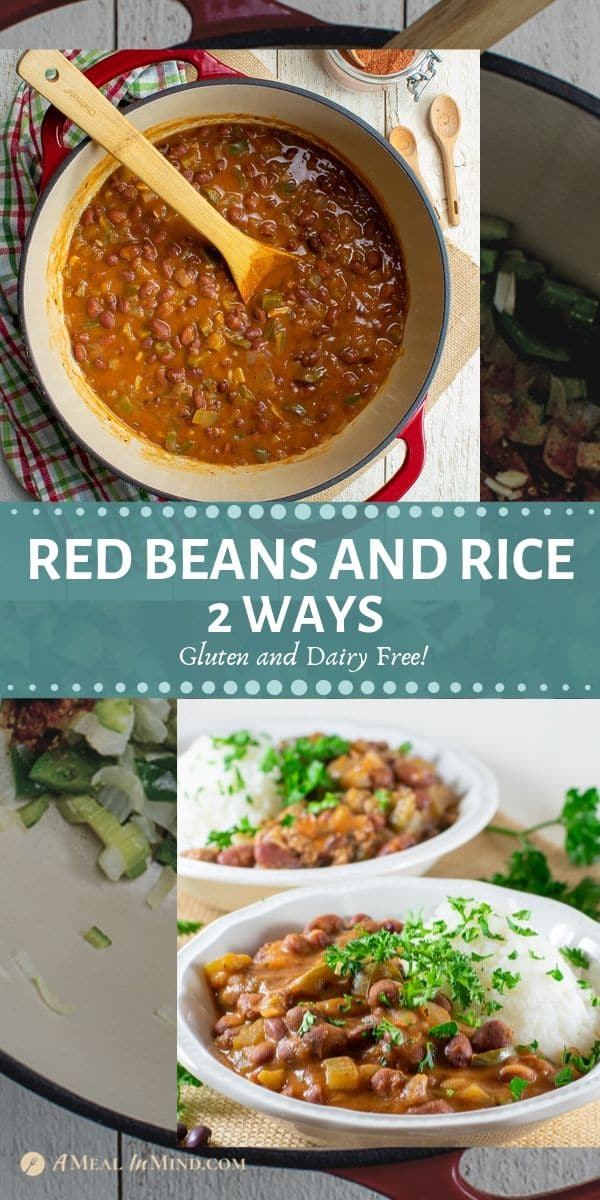 delicious red bean and rice 2 ways tall pinterest image