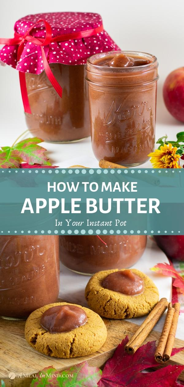 pinterest collage of two images showing uses for apple butter