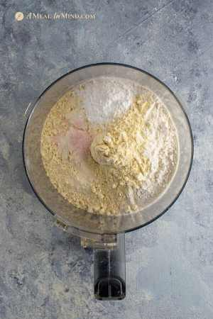 savory millet-currant biscuits dry ingredients in food processor