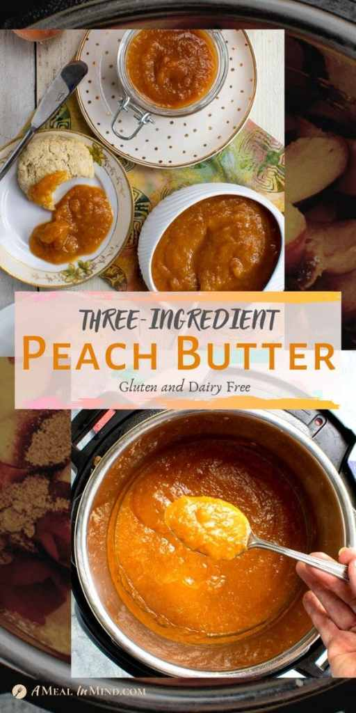 peach butter in small dishes