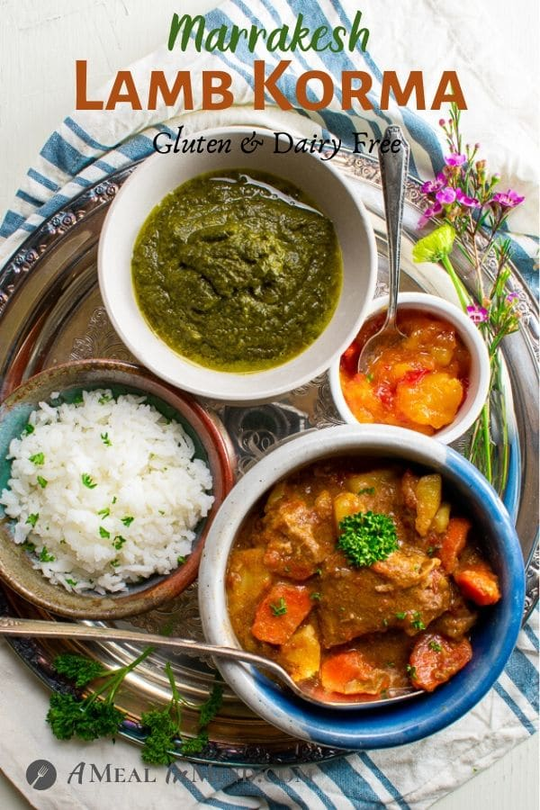 pinterest image of marrakesh lamb curry