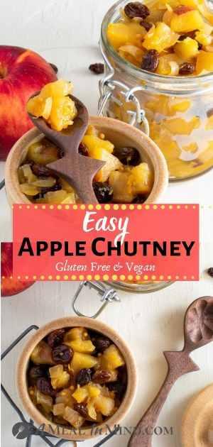 easy apple chutney pinterest collage