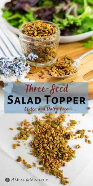 Three-Seed Salad Topper pinterest collage