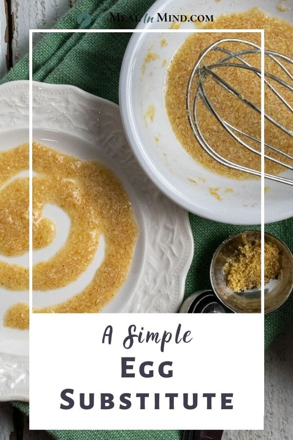 How to Make a Simple Egg Substitute flax-water gel on white plate