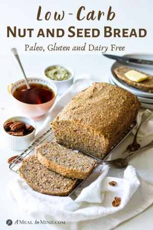 Low Carb Nut and Seed Bread pinterest image