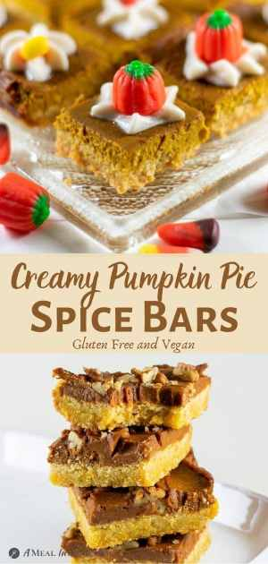 Pumpkin Pie Spice Bars Gluten-Free pinterest collage