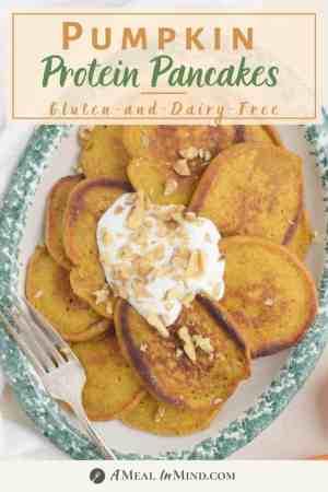 Pumpkin Protein Pancakes pinterest pin