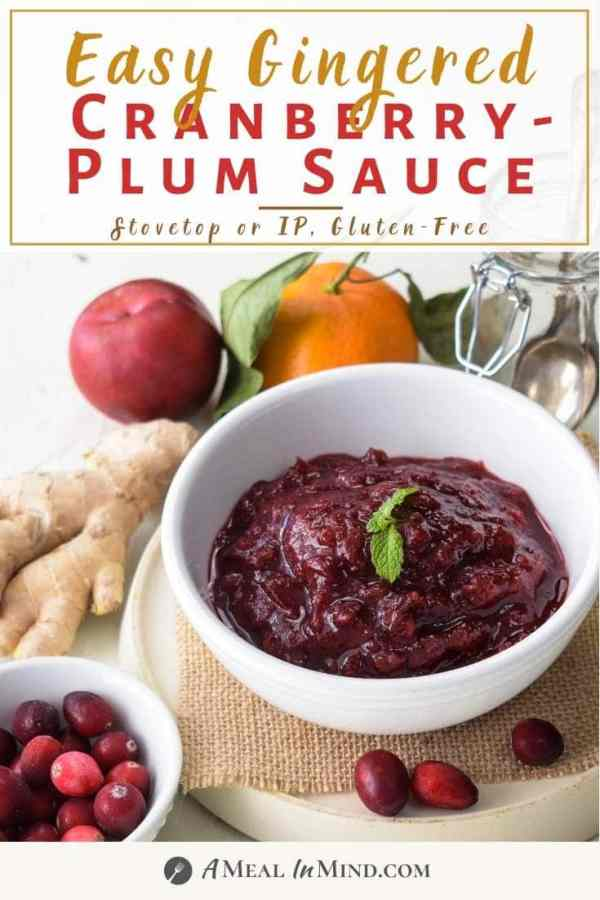 pin image for gingered cranberry plum sauce
