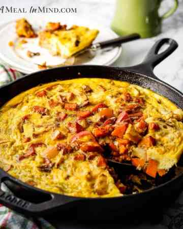 paleo sweet potato skillet close-up image