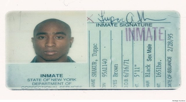 Tupac Shakur's Prison ID Card Breaks World Record After Being Sold at Auction