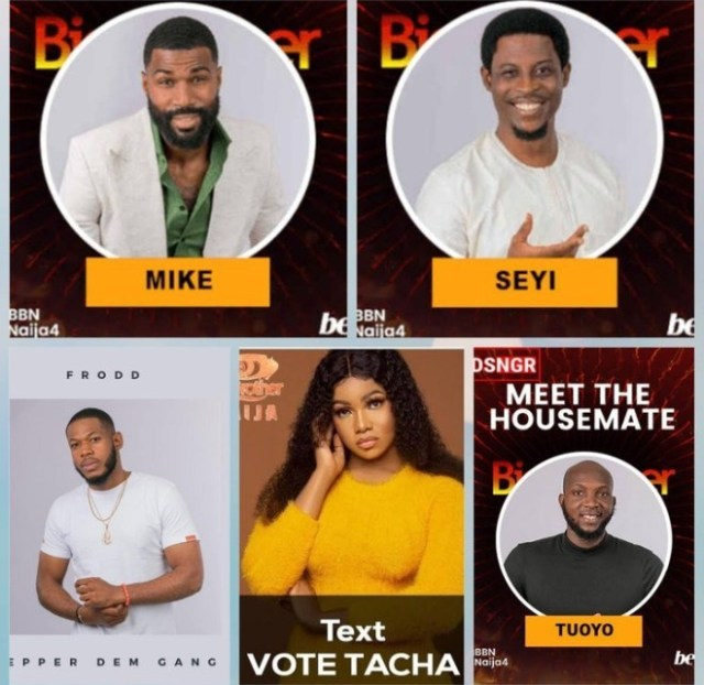 BBNaija: Frodd, Tacha, Tuoyo, Mike And Seyi Up For Possible Eviction On Sunday