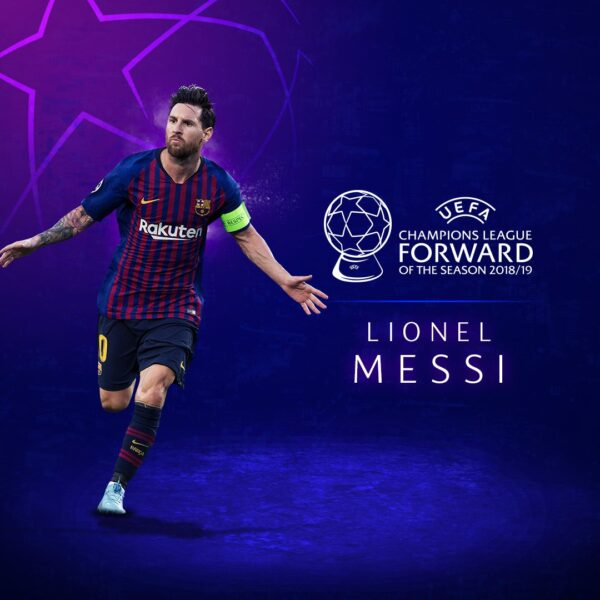 Lionel Messi Wins 2019 UEFA Champions League Forward Of The Year Award