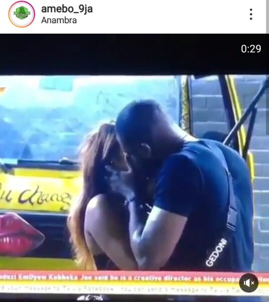 BBNaija 2019: Gedoni And Khafi Seen Kissing Each Other