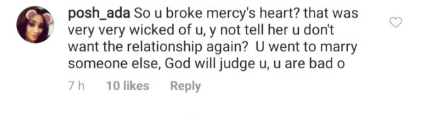 BBNaija: Fans Storm Emenike's Page After Mercy Revealed They Were Dating (Pics)