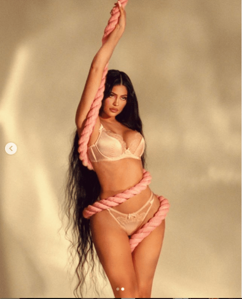 Kylie Jenner Poses In Racy Lingerie While Tangled Up In Rope For New Shoot (Photos)