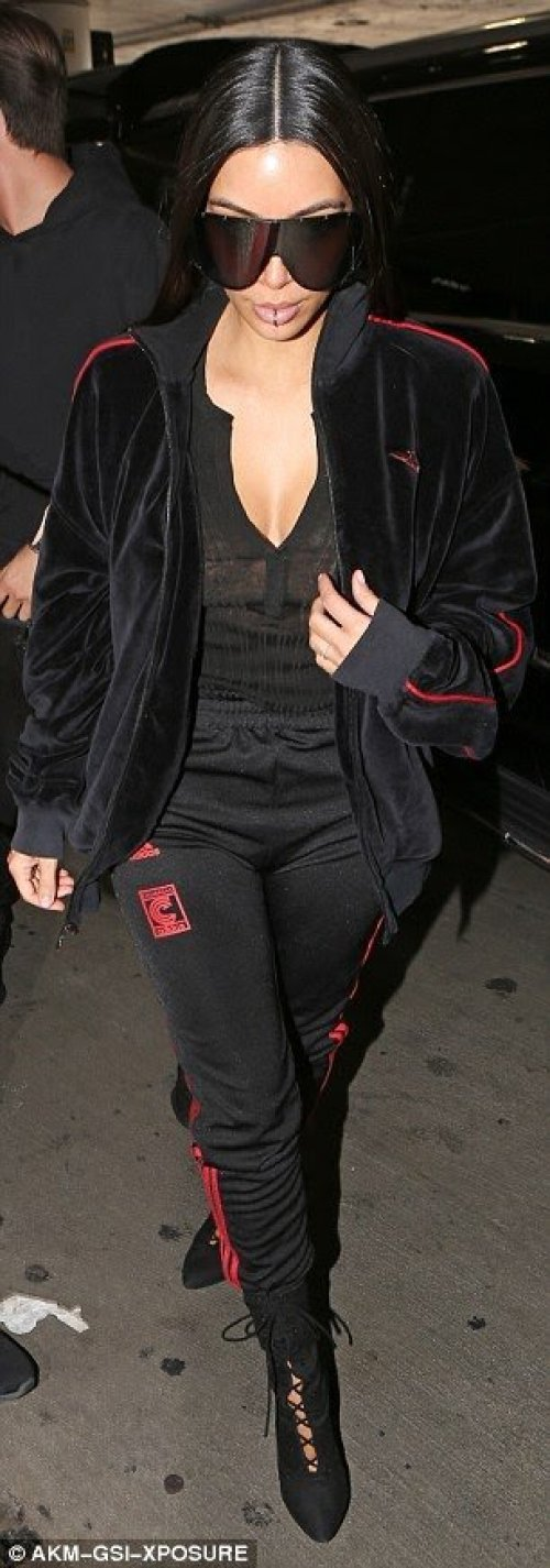 Kim Kardashian vs Khloe Kardashian in Yeezy x Adidas 'Calabasas' Track Pants