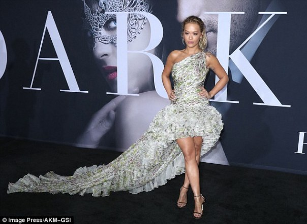 Rita Ora Slays In Giambattista Valli Gown While Attending Fifty Shades Darker Premiere