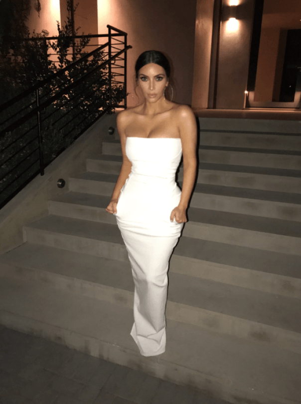 Kim Kardashian Glitzy Awards Ceremony Dress