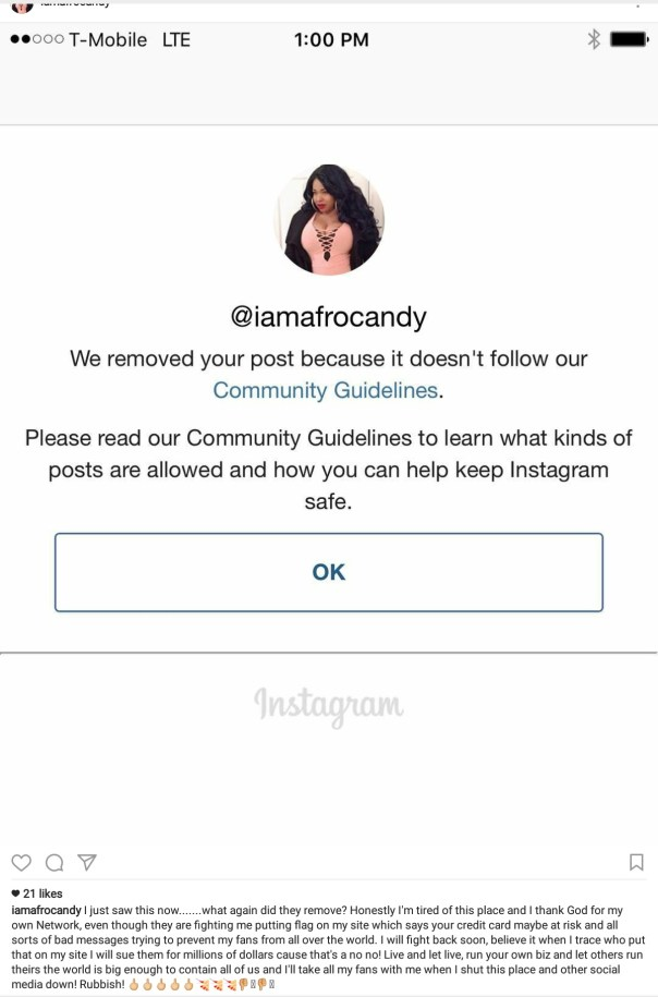Afrocandy Has Threatened To Sue Instagram Over Discrimination