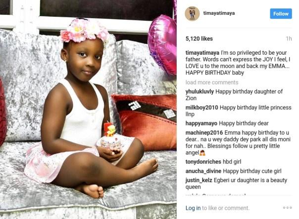 Timaya Celebrates Daughter Emmanuella's 5th Birthday 2