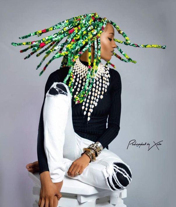 Di'ja KY BRAIDS Introduces Stunning Ankara Braids (1)