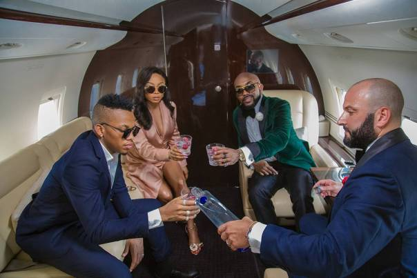 Banky W And Tekno Chilling On Private (1)