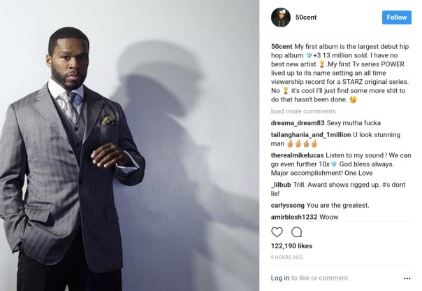 New York Rapper 50 Cent Reminds Of Biggest Entertainment Industry Accomplishments