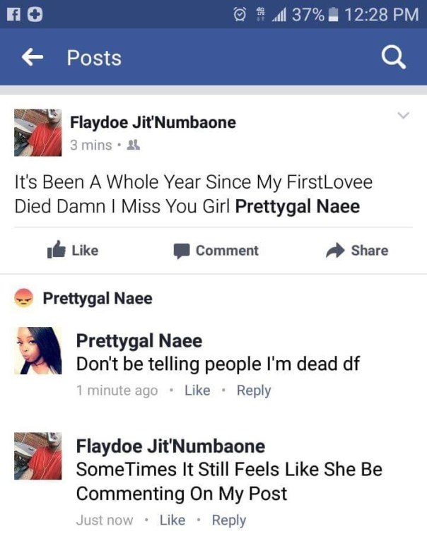 Guy Took To Facebook To Declare His Girlfriend Dead But She Replied Him (1)