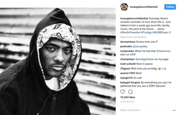 Celebrities Have Reacted To News Prodigy Of Mobb Deep Had Died Aged 42 (3)