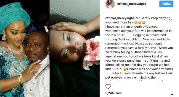 Mercy Aigbe Shared A Throwback Photo Of Brutalized Face By Larry Gentry (2)