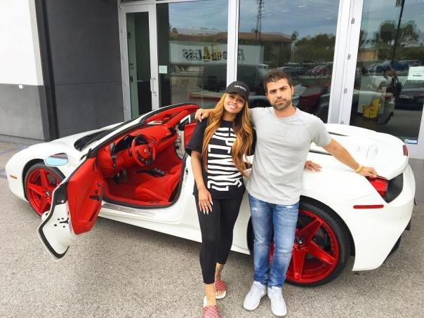 Blac Chyna Shows Off Her New 2017 Ferrari 488 Spider With Forgiato Wheels (1)