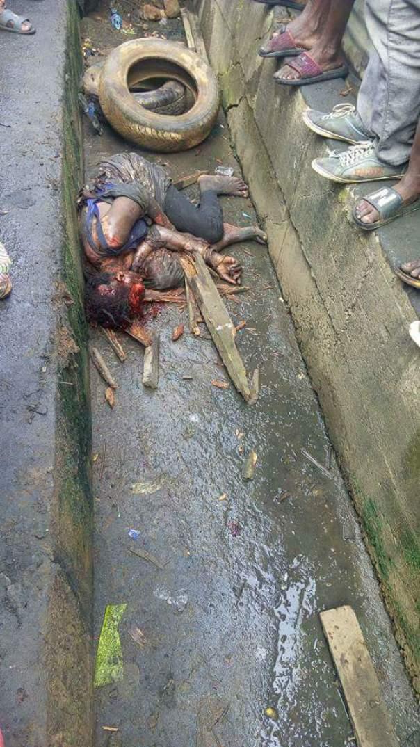 Suspected Female Kidnapper Was Burnt To Death In Ikorodu (2)