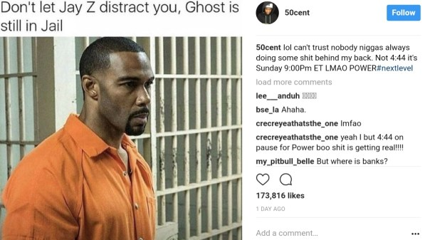 Rapper 50 Cent Hilariously Trolls 4:44 To Promote Power (1)