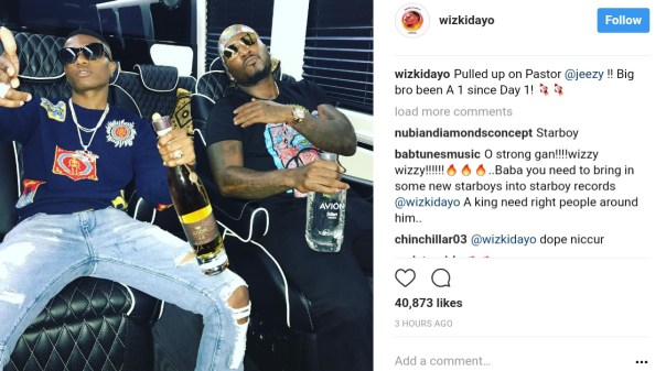 Wizkid And American Rapper Young Jeezy Pictured Chilling Together (1)