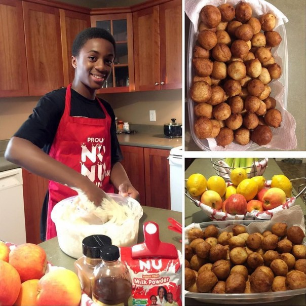 Omoni Oboli Has Been Accused Of Feminizing Her Son After He Was Pictured Frying Puff Puff (1)