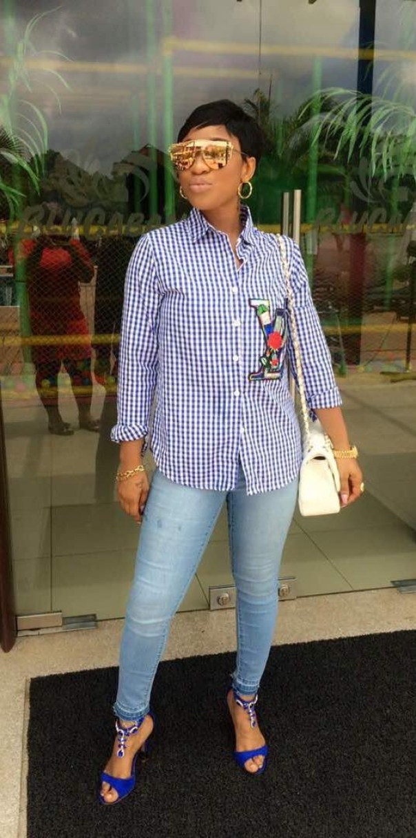 Tonto Dikeh Steps Out For A Casual Day (1)