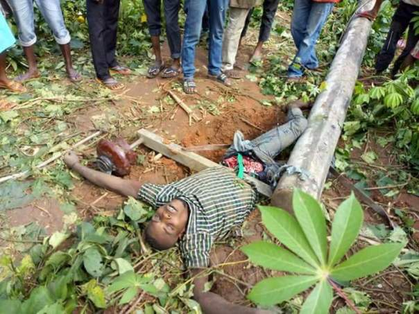 Man Dies After Pole Fell On Him While Attempting To Steal Electric Cables (2)