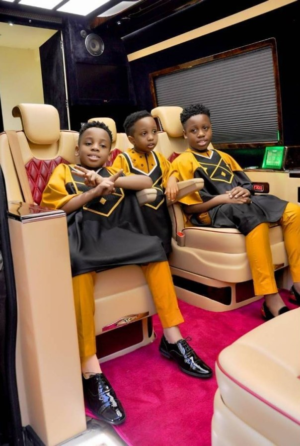 E-Money And His Three Sons Rock Matching Outfits (4)