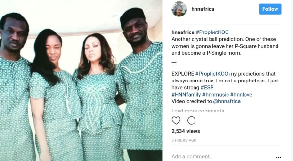 Kemi Olunloyo Predicts One Of These Women You're Looking At Is Gonna Leave Her P-Square Husband (1)