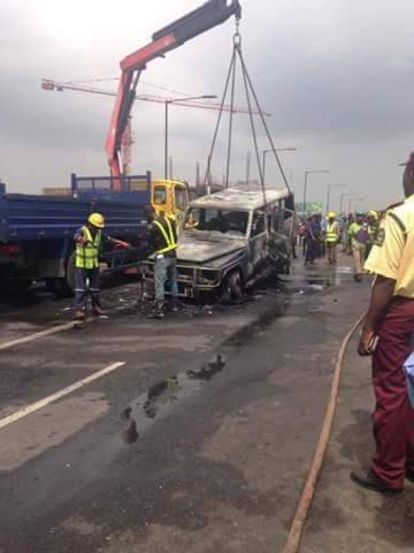 Fayose Escapes Death As Fire Engulfs His Mercedes Benz G-Wagon (1)
