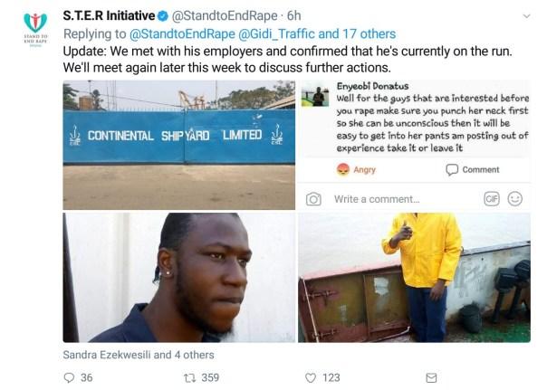 Nigerian Man Enyeobi Donatus On The Run After His Facebook Post Encouraging Rape (4)